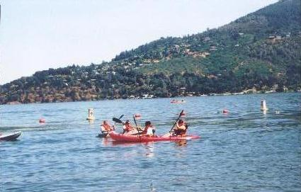 Kayaking at Clearlake 2003.JPG